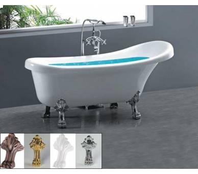 Акриловая отдельностоящая ванна Atlantis C-3000 серебро