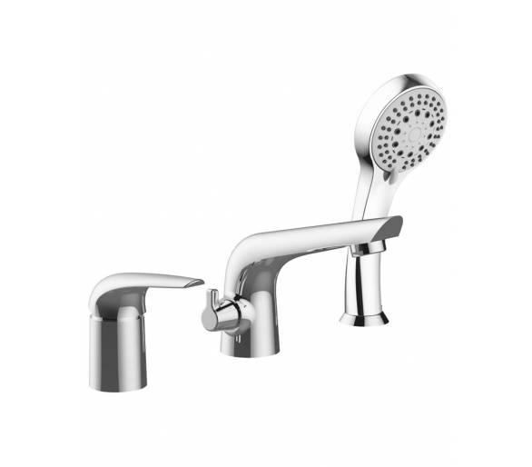 Врезной смеситель для ванны на три отверстия Imprese Krinice