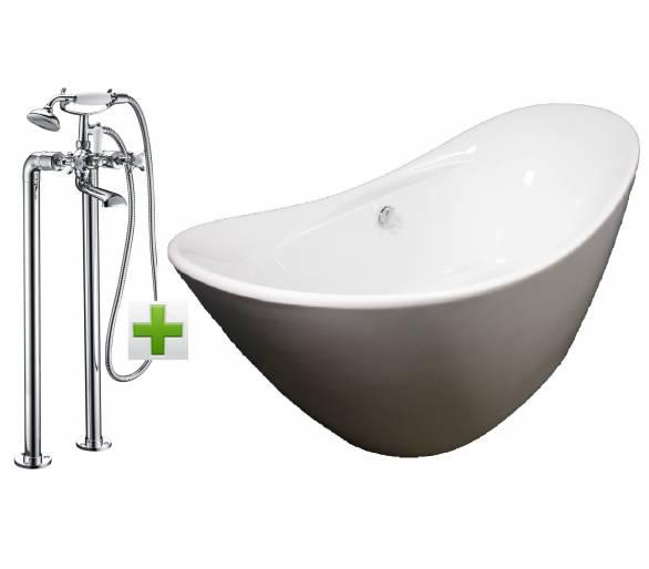 Отдельностоящая ванна Volle со смесителем Imprese Cuthna