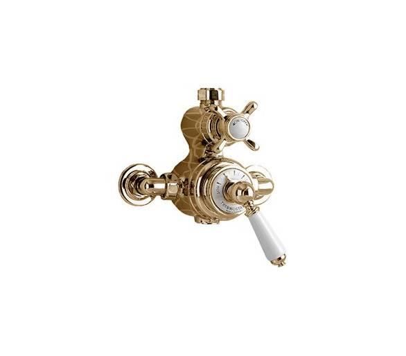 Термостатический смеситель для душа Devon&Devon MARM74 светлое золото