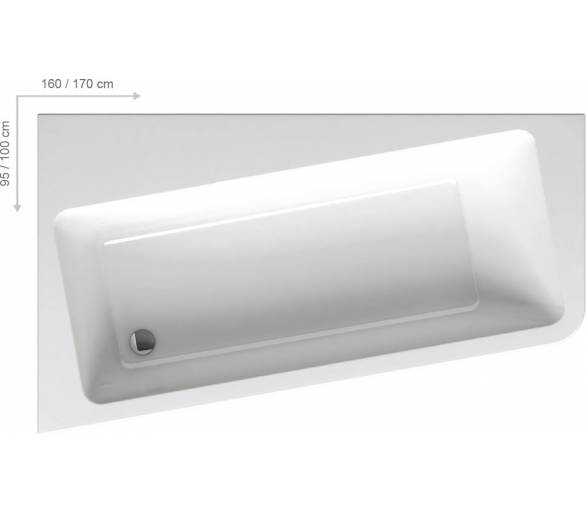 Акриловая ванна Ванна 10°